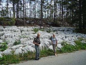 the rocky karst in slovenia